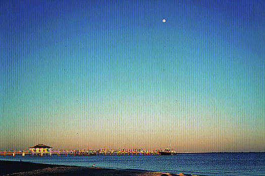Moon Over Fort Desoto by Laurie Perry
