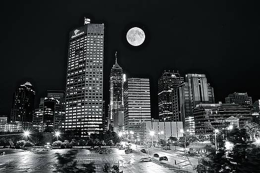 Moon Over Indy 2017 by Frozen in Time Fine Art Photography
