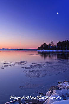 Moon Over Lake Champlain by Nina Weiss