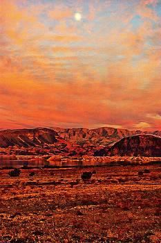 Moon over Lake Mead by Bill Zielinski