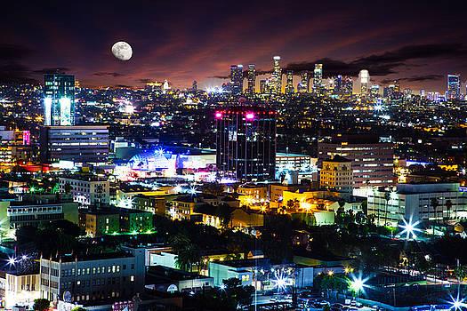Moon over Los Angeles by Matt Cohen