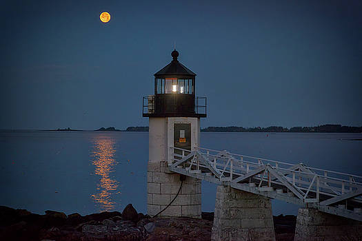 Moon Over Marshall Point by Rick Berk