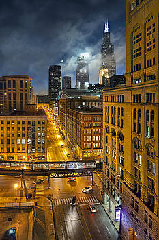 Moon Over Old Chicago by Chuck Brittenham