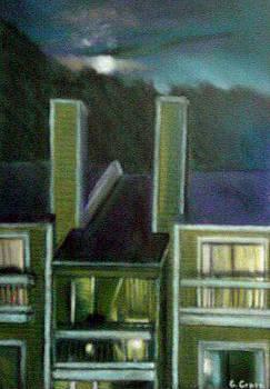 Moon Over Ridgelake by George Grace