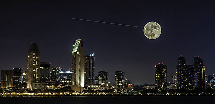 Moon over San Diego by Randall Dunphy