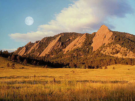 Moon Over The Flatirons by Jerry McElroy