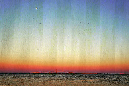 Moon Over The Skyway by Laurie Perry