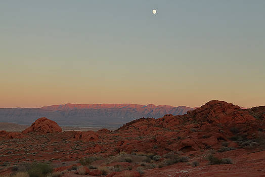 Moon Over Valley of Fire by Jim Allsopp