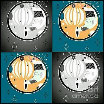 Moon Party 2 by Ann Calvo