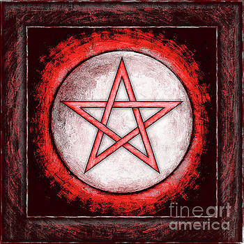 Moon Pentagram Red by Dirk Czarnota