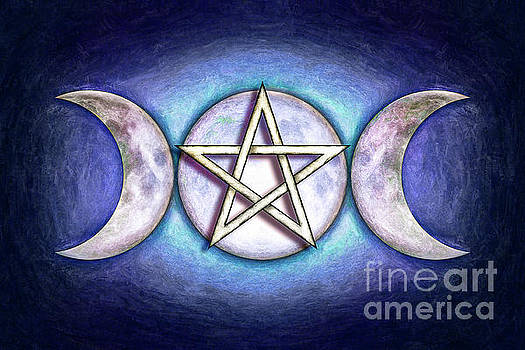 Moon Pentagram - Tripple Moon 1 by Dirk Czarnota