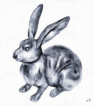 Moon rabbit by Sergey Lukashin