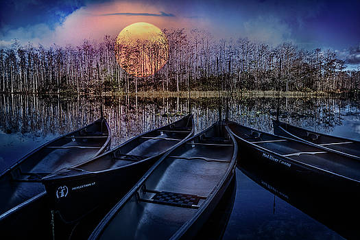 Debra and Dave Vanderlaan - Moon Rise on the River