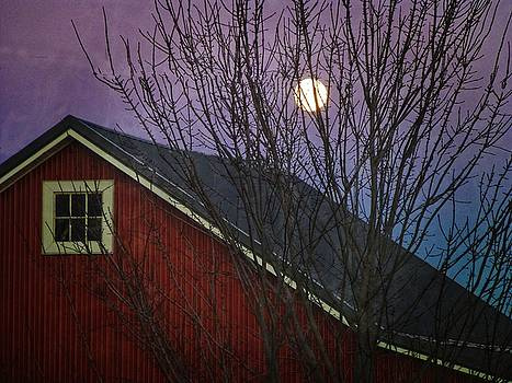 Dee Flouton - Moon Rise Over Barn