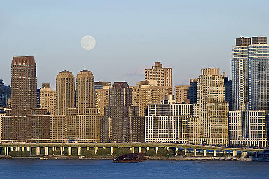 Moon Rise Over Manhattan by Andrew Kazmierski