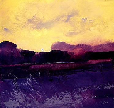Moon Rise Salt Marsh by Richard Morin