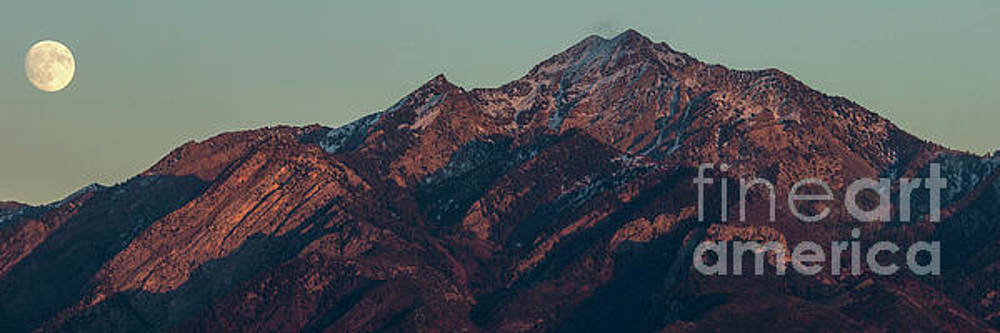 Moon Rising Near Twin Peaks by Spencer Baugh