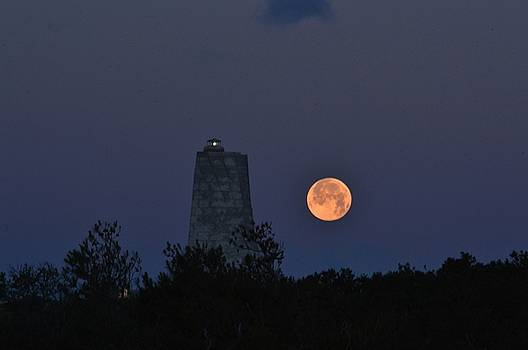 Moon Set at Wright Brothers by Barbara Ann Bell