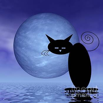 Mooncat's Loneliness by Issabild -