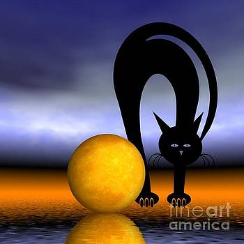 Mooncat's Play With The Fullmoon by Issabild -