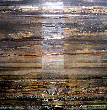 Moonlight and Driftwood series Black  Sepia and Gold by Mike   Bell