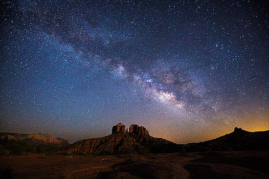 Moonlight and Milky Way by Larry Pollock