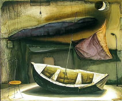 Moonlight Boat by Vakho Kakulia