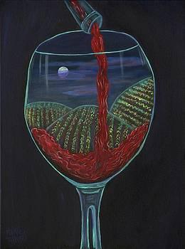 Moonlight In a Wine Glass by Mikki Alhart