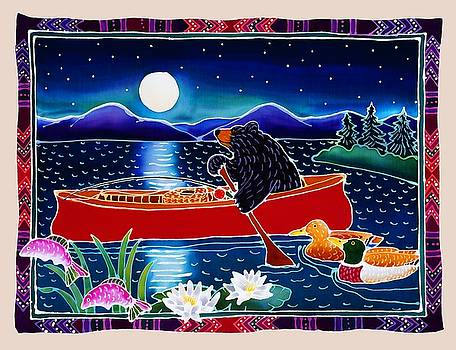 Moonlight on a Red Canoe by Harriet Peck Taylor
