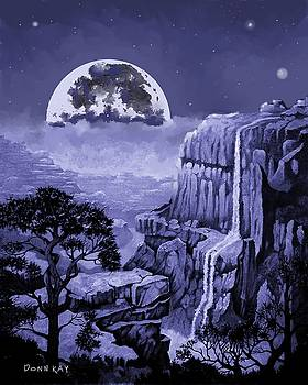 Moonlight on the Falls by Donn Kay