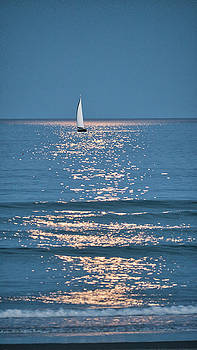 Steven Ralser - Moonlight Sail - Ogunquit Beach - Maine