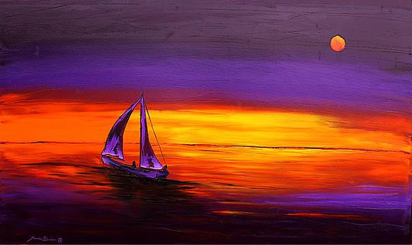 Moonlight Sails #1 by Portland Art Creations