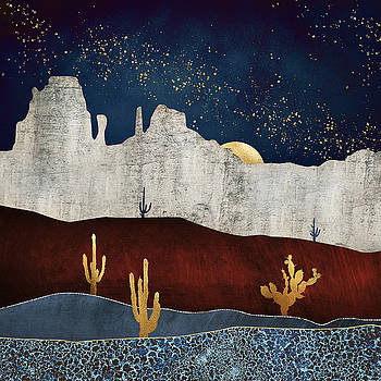 Moonlit Desert by Spacefrog Designs