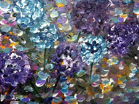 Moonlit garden by Rakhee Krishna