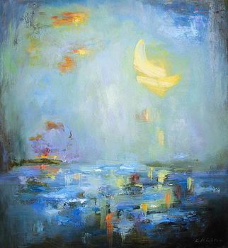 Moonlit Harbor by Keiko Richter