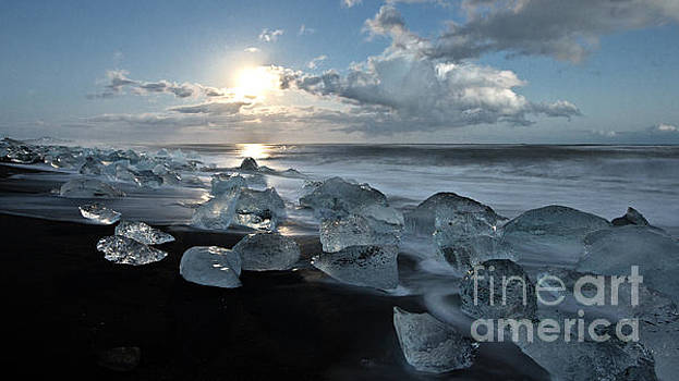 Moonlit Ice Beach by Roddy Atkinson