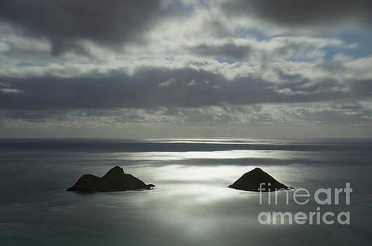 Moonlit Mokulua Islands by Charmian Vistaunet