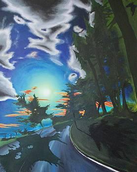 Moonlit Moto by Ross Wood