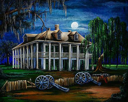 Moonlit Plantation by Elaine Hodges
