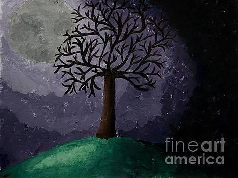 Moonlit Tree by Lee Loo La