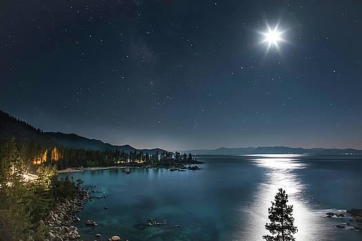 Moonlit Tree on Lake Tahoe by Tony Fuentes