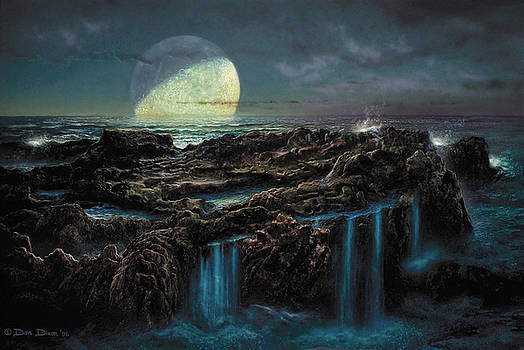 Moonrise 4 Billion BCE by Don Dixon