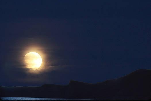 Moonrise on Lake Mead 2 by Marie Leslie