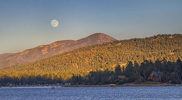 Moonrise Over Big Bear Lake by Chris Reed