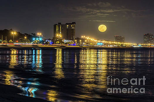 Moonrise over Biloxi by Brian Wright