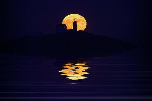 Moonrise Over Cape Neddick by Rick Berk