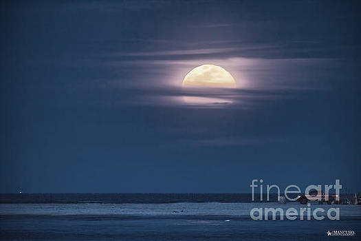 Moonrise Over North End by Phil Mancuso