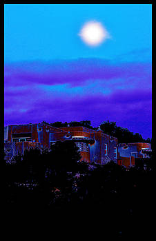 Moonrise Over Santa Fe by Susanne Still