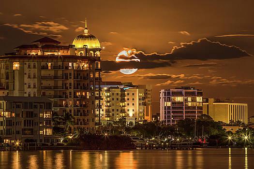 Moonrise Over Sarasota by Richard Goldman
