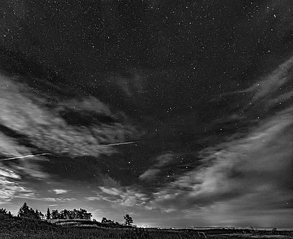 Steve Harrington - Moonrise Over Sauble Beach bw